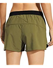 Libin Women's 3 Inch Running Shorts with Liner Quick Dry Athletic Workout Shorts Lounge Sport Gym Shorts Back Zip Pocket