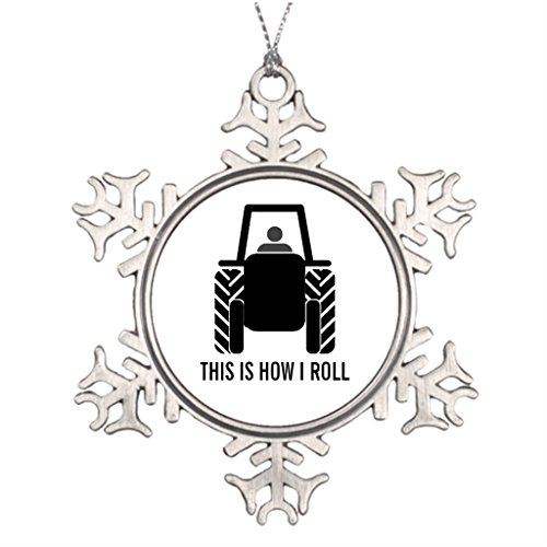 Xixitly Ideas For Decorating Christmas Trees This is How I Roll Guy on Tractor Farming Christmas Photo Snowflake Ornaments