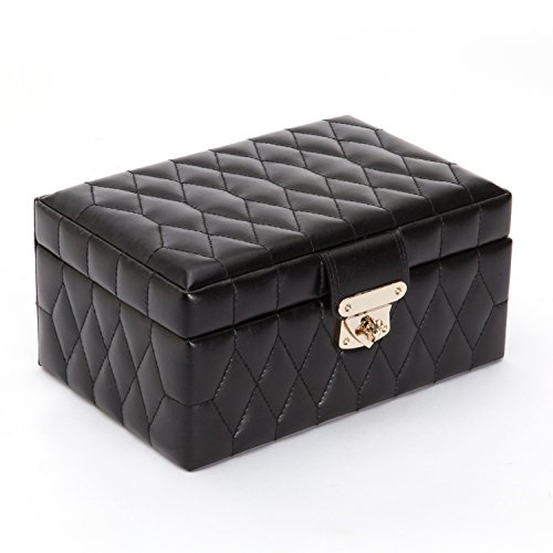 WOLF 329871 Caroline Small Jewelry Case, Black