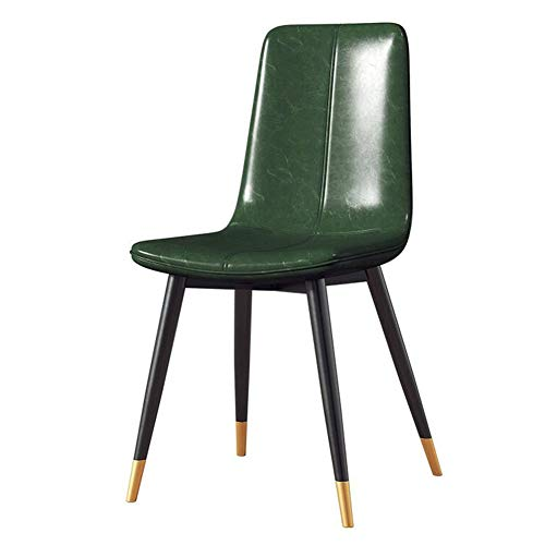 Dining Chairs LIUNA PU Leatherette Mid Century Modern for Kitchen, Office Chair Breakfast, Bedroom, Living Room (Color : Green, Size : T3) Director Leatherette Office Chair