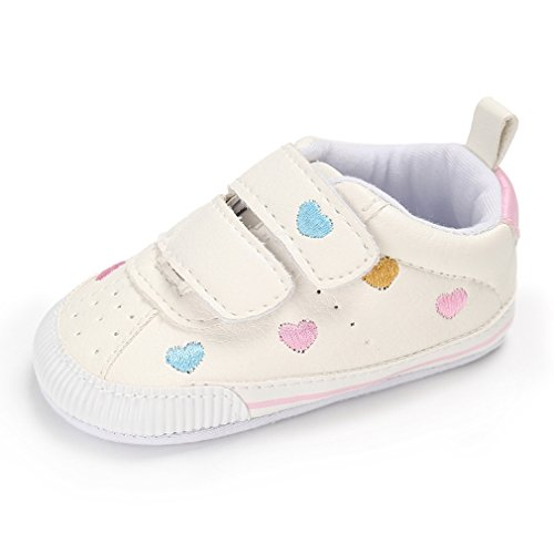 Royal Victory Toddler Baby Boys Girls Shoes 0-18 Months Slip-on PU Leather Crib Shoes Infant Walkers-by RVROVIC (Baby Sneakers Girls)