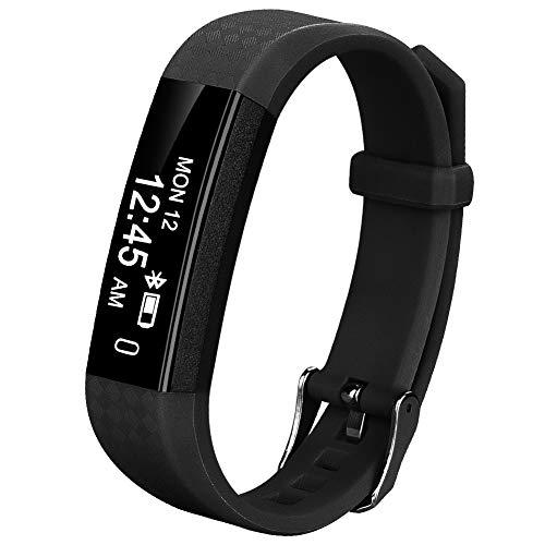 Coch Fitness Tracker, IP67 Waterproof Activity Tracker Watch,Sleep Monitor,Smart Fitness Band,Bluetooth Step Counter Kids Women Men (Black)