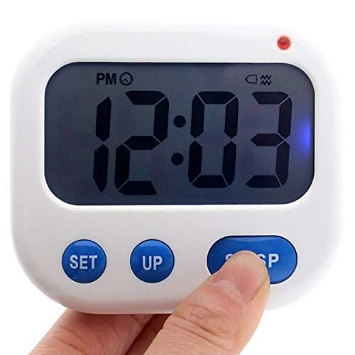 TOOGOO Despertador de Vibracion Temporizador Digital LED Luminova Reloj de Caramelo Electronico Reloj de Escritorio de Estudiante Gadgets de Escritorio Luz Azul + Azul