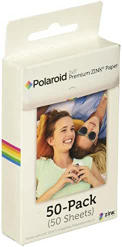 Polaroid 2x3 inch Premium ZINK Photo Paper QUINTUPLE PACK (50 Sheets) - Compatible With Polaroid Snap, Snap Touch, Z2300, SocialMatic Instant Cameras & Zip Instant Printer