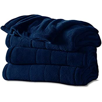 Sunbeam Imperial Plush Heated Blanket-King-Midnight Blue