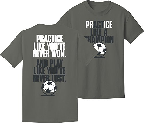 Soccer T-Shirt: Like a Champion Soccer-Youth (Soccer Ball Youth T-shirt)