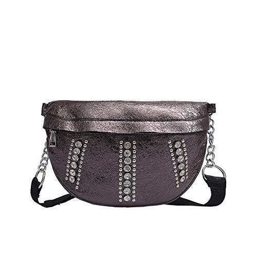 Fitfulvan Women's Versatile Sport Waist Bag Crossbody Packet Bright Diamonds Messenger Bag Shoulder Package