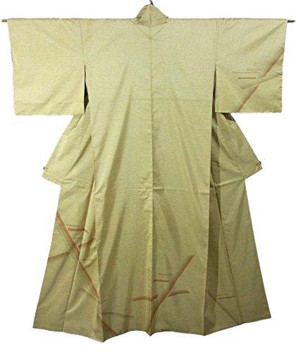 リハーサル分割キルスリサイクル 着物 縞大島紬 訪問着 鹿児島県産 証紙付き ライン模様 正絹 袷 裄67cm 身丈164cm