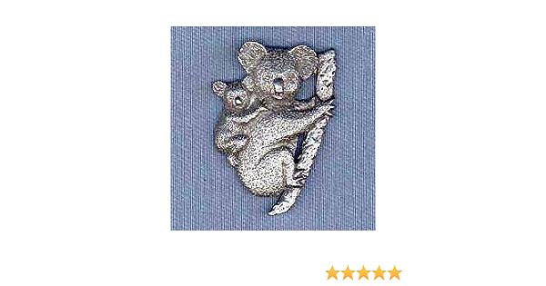 "KOALAS MAMA /& BABY AUSTRALIA PEWTER METAL 3//4/"" LAPEL PIN"