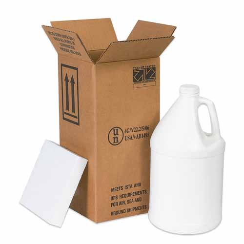 "Cheap Aviditi HAZ1130 Single-Wall Corrugated Foam Shipper Kit, 1 Gallon Jug, 6"" Length x 6"" Width x 12-3/4"" Height, Kraft hot sale"