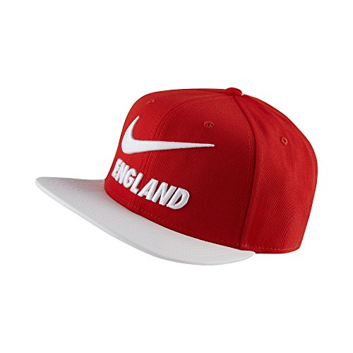 NIKE England Pro Cap, Challenge Red/White, One Size Fits Most