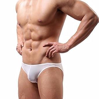 dPois Mens Smooth Stretch Swim Briefs Low Rise Bikini Swimwear Underwear