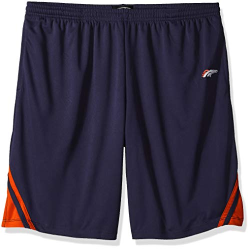 OTS NFL Denver Broncos Male NFL Poly Dot Athletic Short, Light Navy, XX-Large