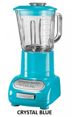 Genuine KitchenAid Artisan Blender 5KSB5553E Backed by KitchenAid Worldwide Three Years Guarantee! 220-240 volts 50 Hz to Use Outside North America. (CRYSTAL BLUE) by KitchenAid