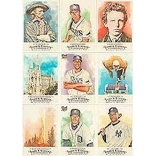 2009 Topps Allen and Ginter Baseball Complete Mint Hand Collated 350 Card Set featuring Baseball Stars, Historical Figures and Other Sports Stars from Topps