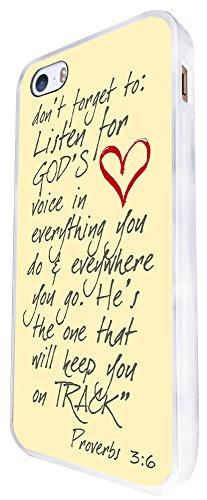 770 - Bible Don'T Forget To Listen To God'S Voice Design iphone SE - 2016 Coque Fashion Trend Case Coque Protection Cover plastique et métal - Blanc