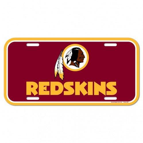 Washington Redskins Laser License Plate - WinCraft NFL Washington Redskins License Plate, Team Color, One Size