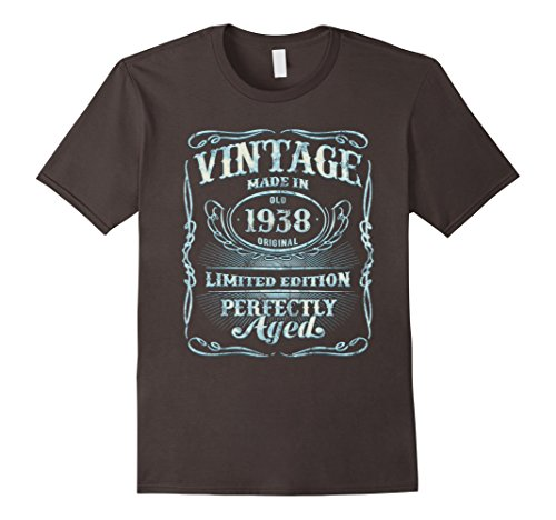 Birthday Limited Edition - Mens Vintage 1938 T-Shirt 80th Birthday Limited Edition Gift 2XL Asphalt