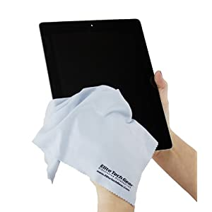 Elite Tech Gear – 4 Blue OVERSIZED Microfiber Cloths, The Most Amazing Microfiber Cleaning Cloths – Perfect For Cleaning All Electronic Device Screens, Eyeglasses & Delicate Surfaces 12″x12″ OVERSIZED
