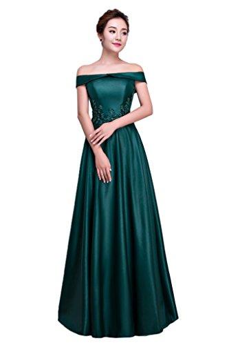 Beliebt Promkleid Damen Satin Dunkelgruen Linie U Ivydressing Abendkleid Partykleid Festkleid Ausschnitt A qY4xS5w5U