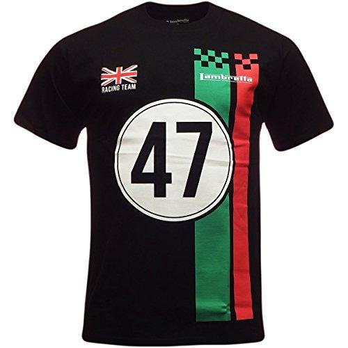 Lambretta Men's T Shirt Racing Team Design Small Black