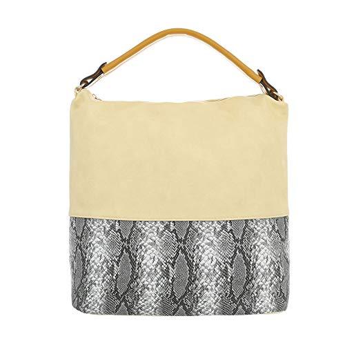 hombro al Bolso Ital para de Gelb mujer Design Multi Sintético xPCwRw5tpq