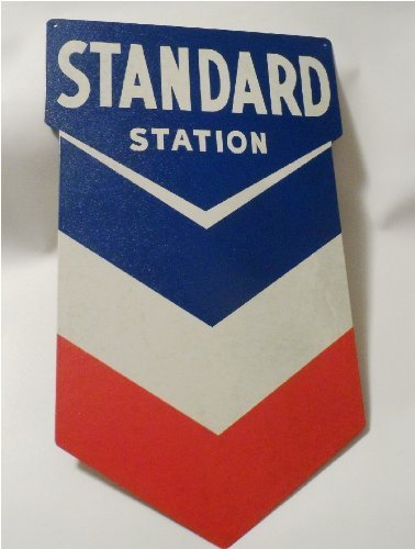 Standard Station Sign, Nostalgic Looking Gas Oil Service Station Retro Metal Sign (Texaco Station)
