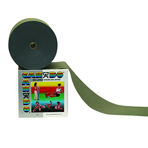 Cando 10-5626 Silver Latex-Free Exercise Band, XX-Heavy Resistance, 50 yd ()