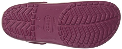 Adulto 6or Zuecos pomegranate Crocband Unisex Dust Rojo Crocs rose zUOtqO