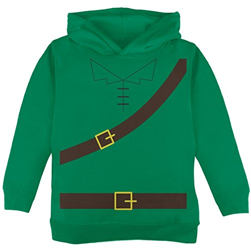 Halloween Robin Hood Costume Green Toddler Hoodie - (Robin Hood Toddler Costume)