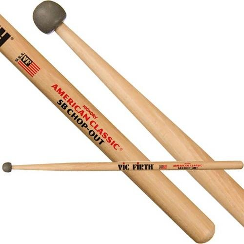 Vic Firth Practice Sticks with Rubber Tip 5B (Drumsticks Rubber)