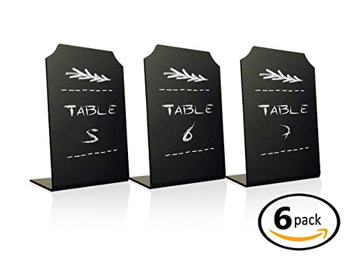 Acrylic Chalkboard Signs Memo Message - Mini Blackboard with Stand for Cafe & Restaurant Parties Place Cards Buffet Menus and Events Weddings - 4 x 6 Boards - By Advanced Group Corp … (6 (Event Menu Card)
