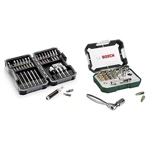chollos oferta descuentos barato Bosch Set de 43 unidades para atornillar y llaves de vaso 2607017322 Puntas de destornillador trinquete juego de 26