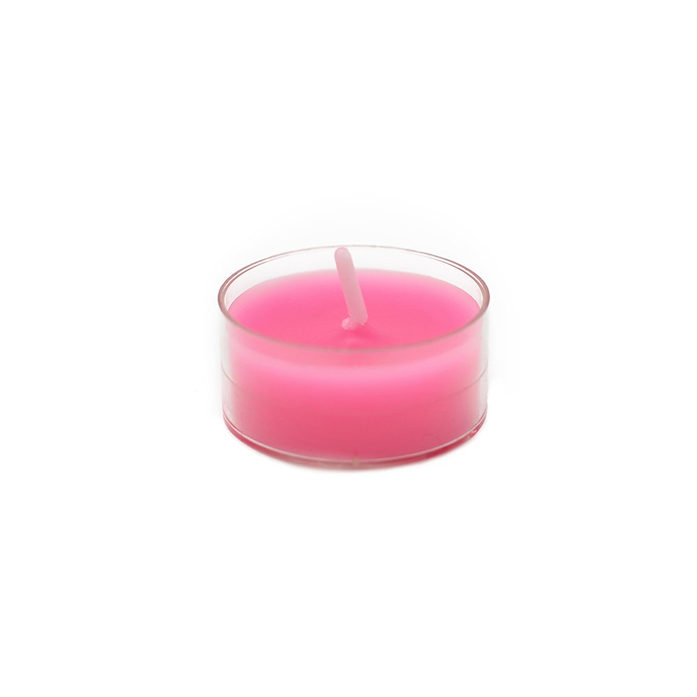 Zest Candle CTZ-010_12 600-Piece Tealight Candle, Hot Pink