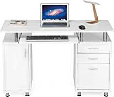 SONGMICS Mesa de Ordenador con 3 Cajones Escritorio de Oficina ...