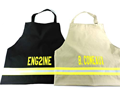 (Firefighter Personalized BBQ Apron, Regular or Large)