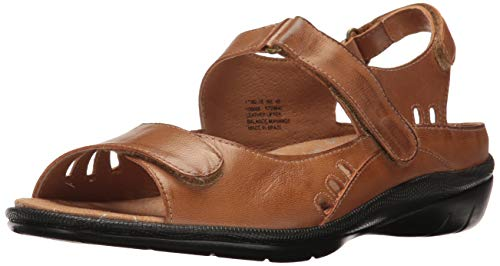 Drew Women's Tide Hook and Loop Sandal,Cognac Leather,US 7 M