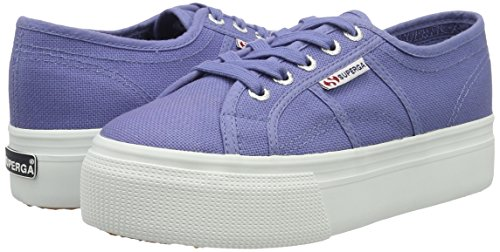 Superga Blau Velvet Baskets Acotw Basses 2790 Femme Down blue Up Linea And BcfwRATB6