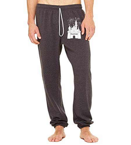 DisGear Castle is My Home Fireworks Unisex Matching Sweat Pants, 2X-Large Grey