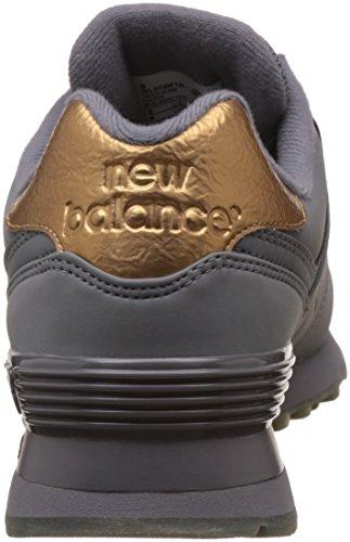 Nuovo Equilibrio Womens 574 Metallo Fuso Fuso Moda Sneaker Canna Di Fucile