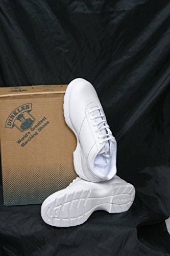 Dinkles Edge Women's Marching Band Shoes (Medium 9, White) by DINKLES