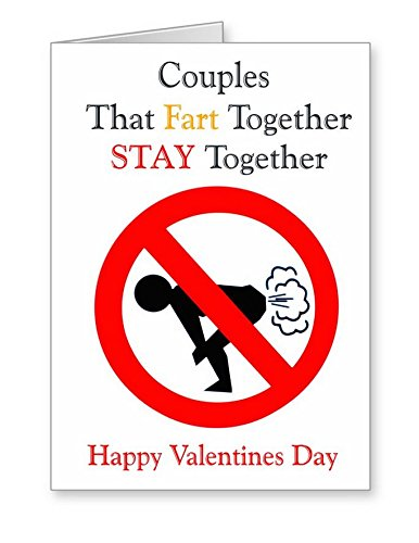 Funny Rude Valentine S Card Coupels That Fart Together Stay