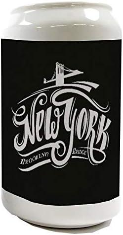 Leotie GmbH Hucha Pasi/ón Viajes Ciudad Metro de NY Broadway Ceramica Impreso