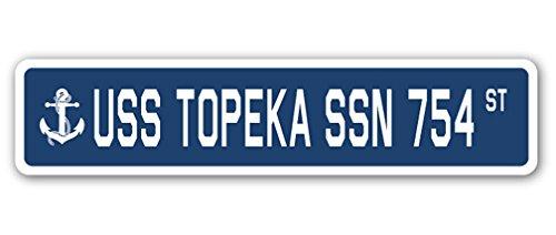 USS TOPEKA SSN 754 Street Sign us navy ship veteran sailor - Stores Topeka