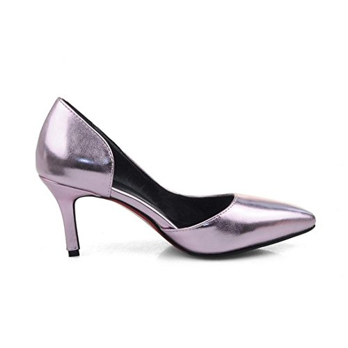 Rose Chaussures de Moyens On Talon Simple Court COOLCEPT chaton Talons Slip D'Orsay Femmes UBPnxf7