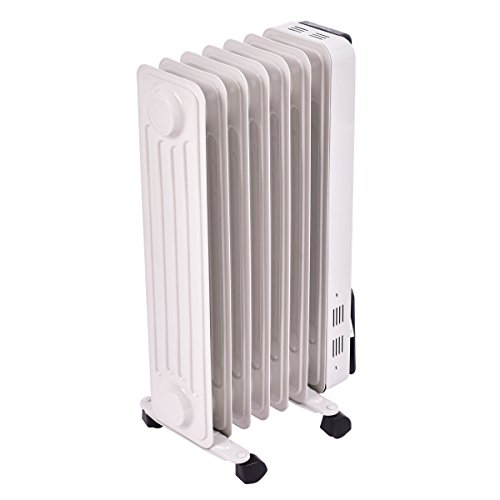 Electric Oil Radiator ~ Tangkula electric oil filled radiator heater portable home