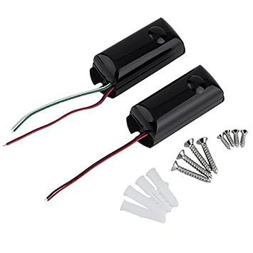 Detector de barrera infrarroja con cable de un solo haz para exteriores, sensor de movimiento
