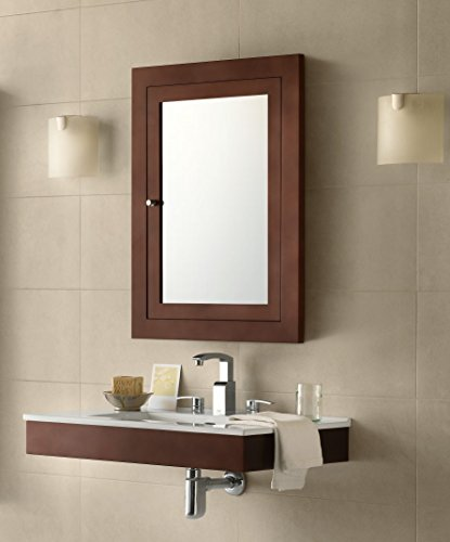 RONBOW Frederick 24'' x 32'' Transitional Solid Wood Frame Bathroom Medicine Cabinet in Dark Cherry, 2 Mirrors and 2 Cabinet Shelves 618125-H01 by Ronbow (Image #1)