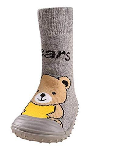 xel_uu.11 - Calcetines Antideslizantes para bebé, diseño de Primeros Pasos Gray*23 E23: Amazon.es: Jardín