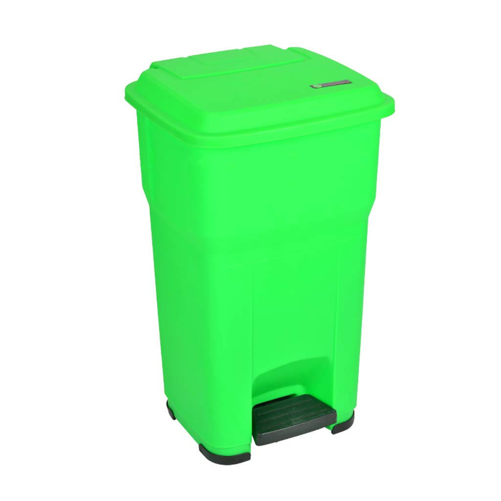 CSQ Solid Color Plastic Trash Can, 30L/55L Pedal-Type Trash Can, Family Community Factory Company Trash Can Street Park Trash Can Indoor